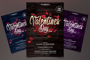 Valentines Day - PSD Flyer Template