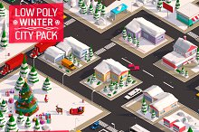 Low Poly City Winter Pack by  in Environment