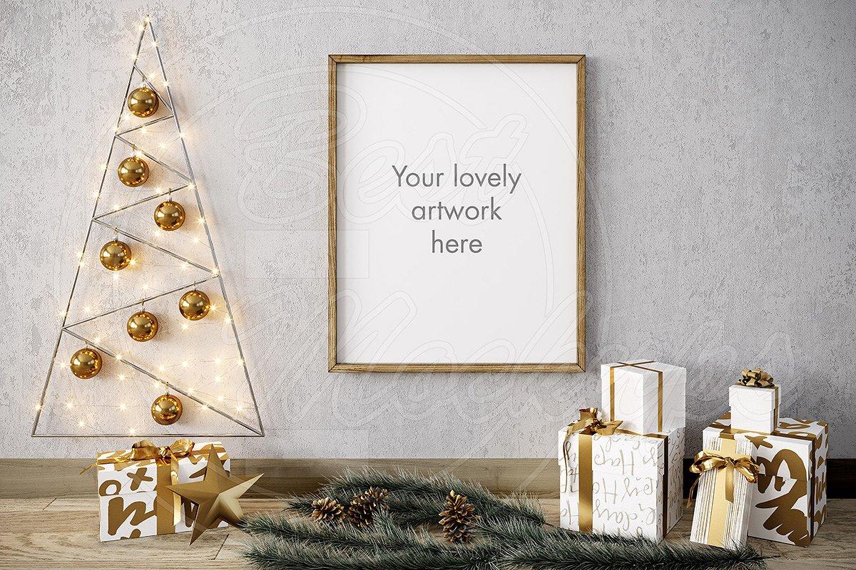 1359914af9da Merry CHRISTMAS mockup GOLD 8x10