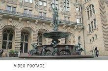 Fountain near the Rathaus
