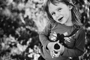 Little beautiful girl posing
