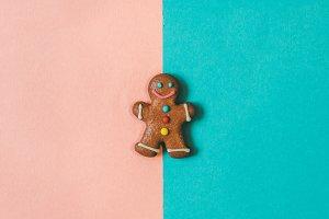 minimalist gingerbread man.