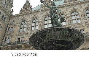 Fountain near the Rathaus in Hamburg