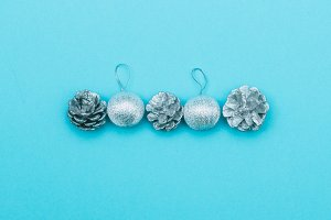 silver Christmas decoration