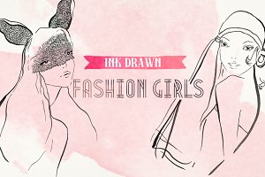 Ink Drawn Fashion Girls