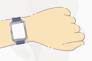 Smart watch with blank screen
