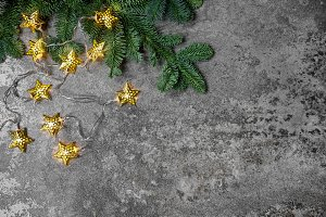 Christmas decoration golden stars