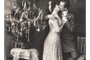 Vintage Christmas picture postcard