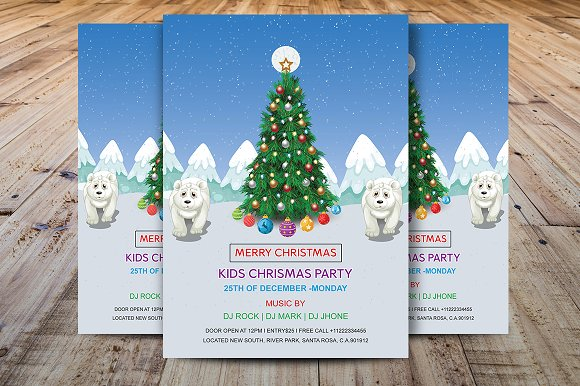 Kids Christmas Party Flyer
