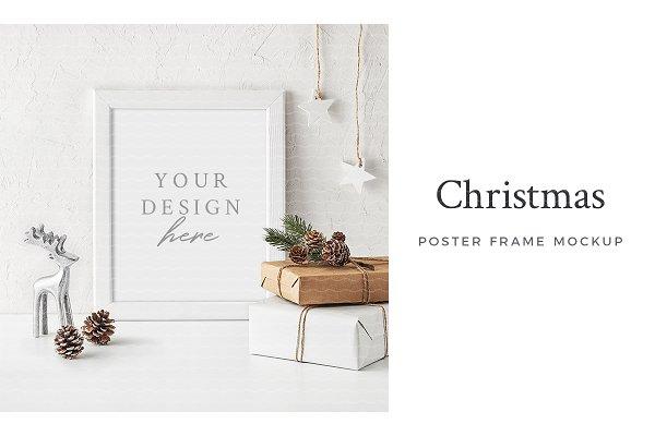 Christmas Poster Frame Mockup