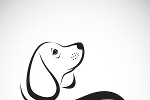 Vector of beagle dog design.