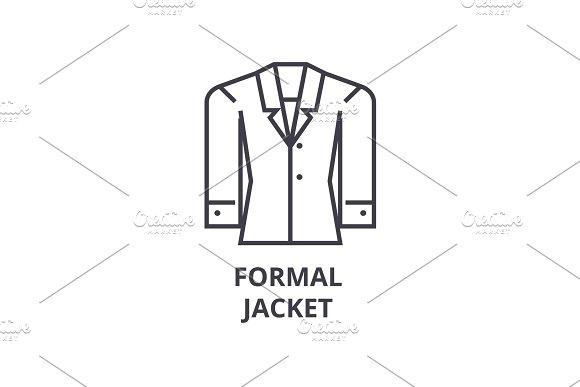 Formal Jacket Line Icon Outline Sign Linear Symbol Vector Flat Illustration