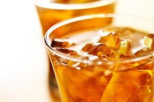 iced tea close up