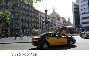 Busy Barcelona street