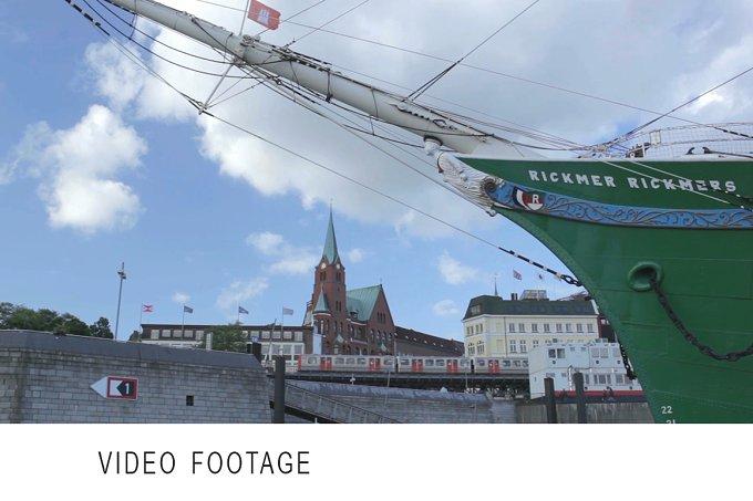 Hamburg port. Time lapse. - Transportation