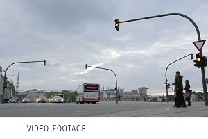 Crossroads, traffic lights