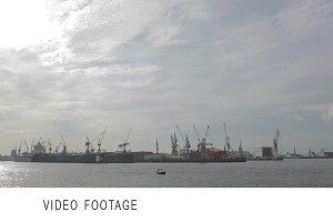Hamburg harbour.