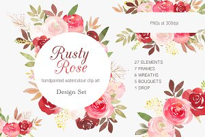 Rusty Rose Complete Design Set