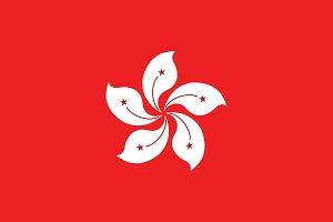 Vector of Hong Kong flag.