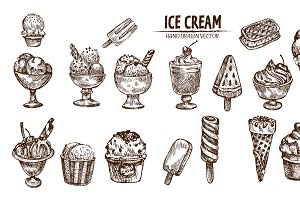 Bundle of 20 ice cream vector set 2