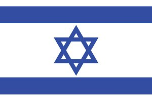 Vector of Israeli flag.