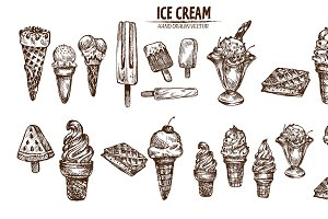Bundle of 20 ice cream vector set 3