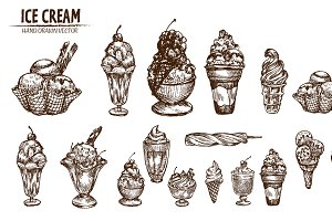 Bundle of 20 ice cream vector set 4