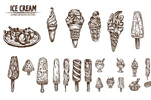 Bundle of 20 ice cream vector set 5
