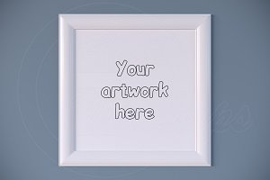 Professional white mock up frame png