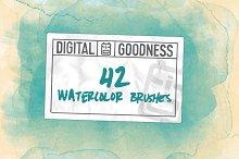 42 Watercolor Brushes