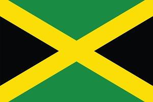 Vector of Jamaican flag.