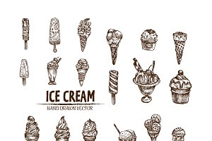 Bundle of 20 ice cream vector set 6