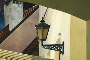 Lantern on the wall in Old Riga