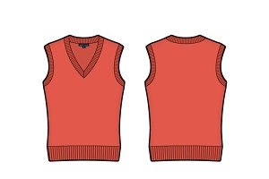 Women V Neck Sleeveless Sweater Vest