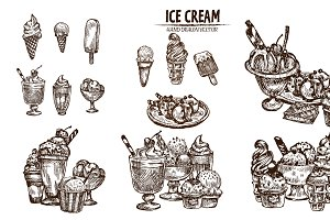 Bundle of 20 ice cream vector set 7