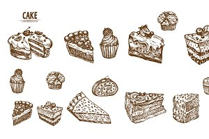 Bundle of 15 cake vector set 1