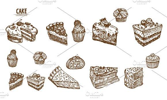 Bundle of 15 cake vector set 1