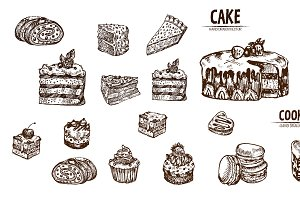 Bundle of 20 cake vector set 2