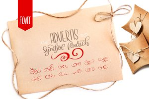 Advertis Ornament Flourish Font