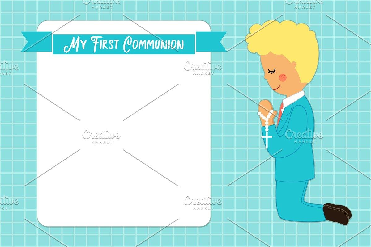 Cute First Communion card for boys