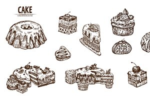 Bundle of 20 cake vector set 3
