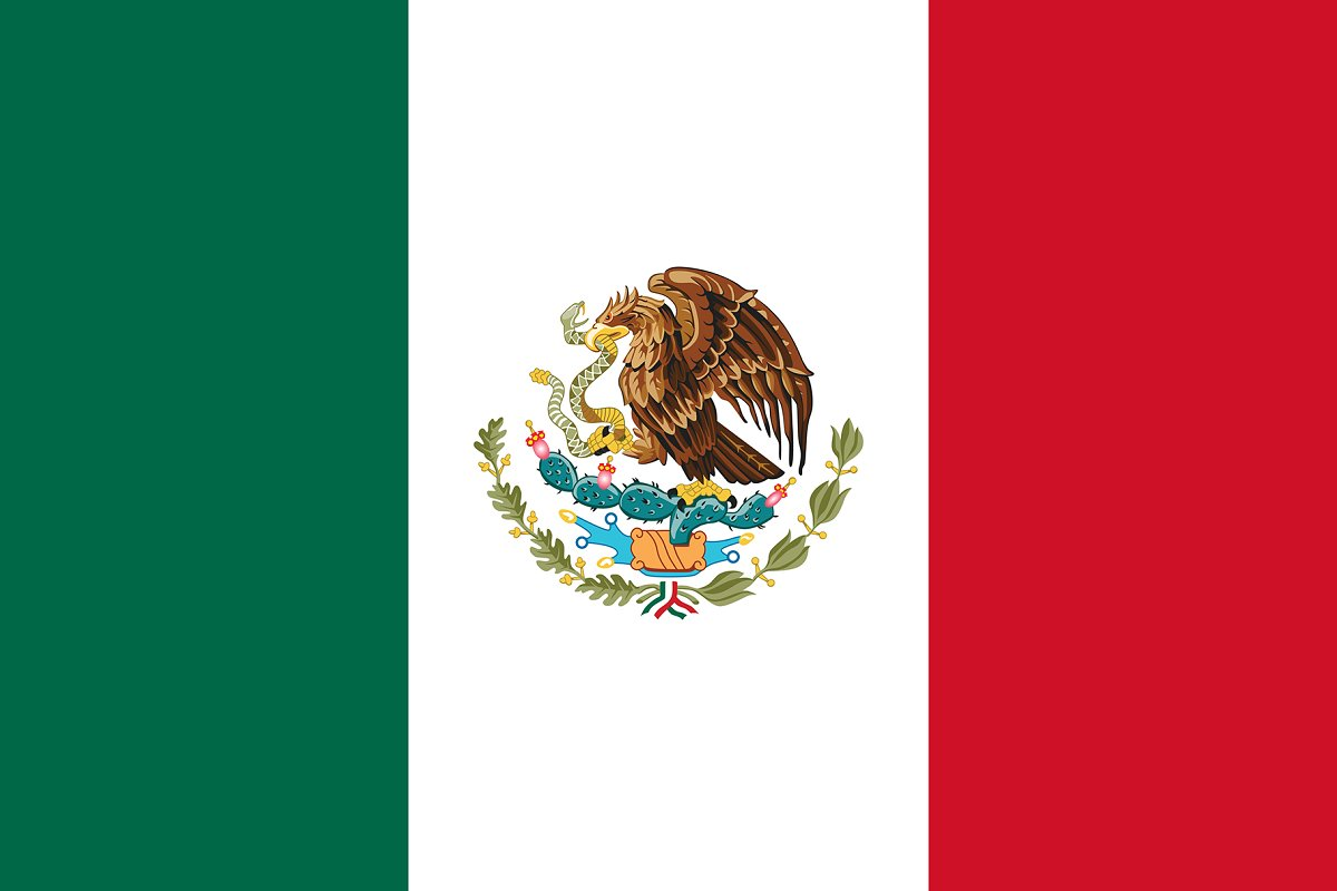 Vector of Mexican flag.