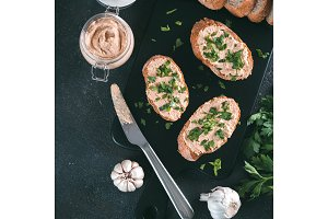 homemade turkey pate on bread