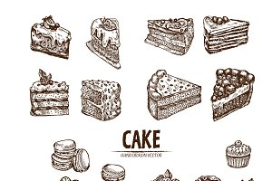 Bundle of 20 cake vector set 4