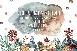 Watercolor Christmas Bundle