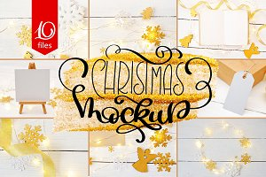 Christmas Mock Ups Collection 2