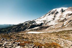 Snowy Mountain Tundra Landscape