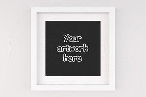 Modern square frame mockup art print