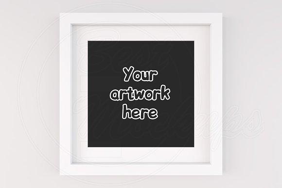 Modern square frame mockup art print ~ Product Mockups ~ Creative Market