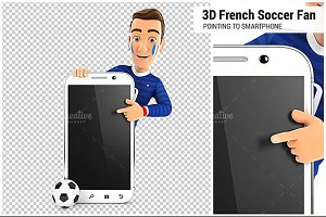 3D French Soccer Fan Smartphone